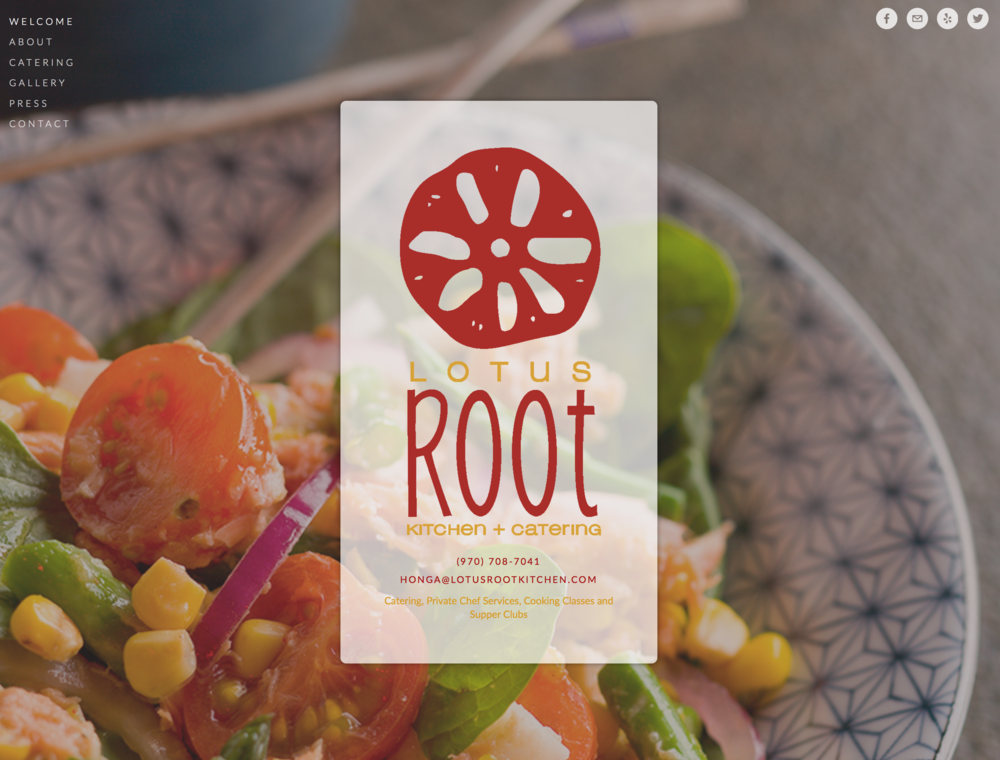Website for the Lotus Root Kitchen