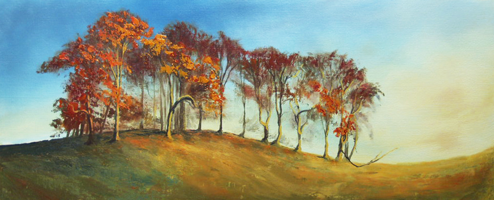 'Copper Beech'   A small study of a line of tall, proud beech trees in Alpey park caught in the afternoon sun.