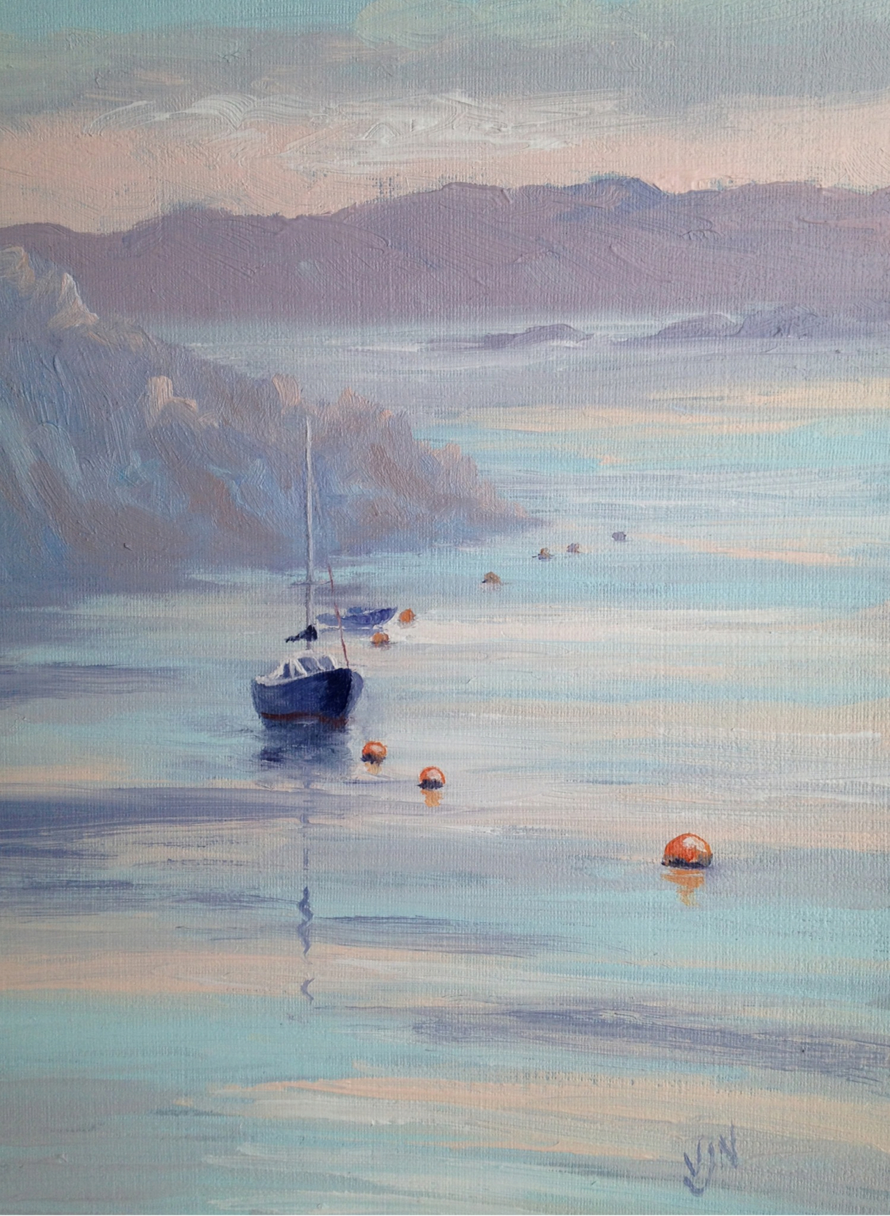 A study of dawn light in Crinan, Argyll