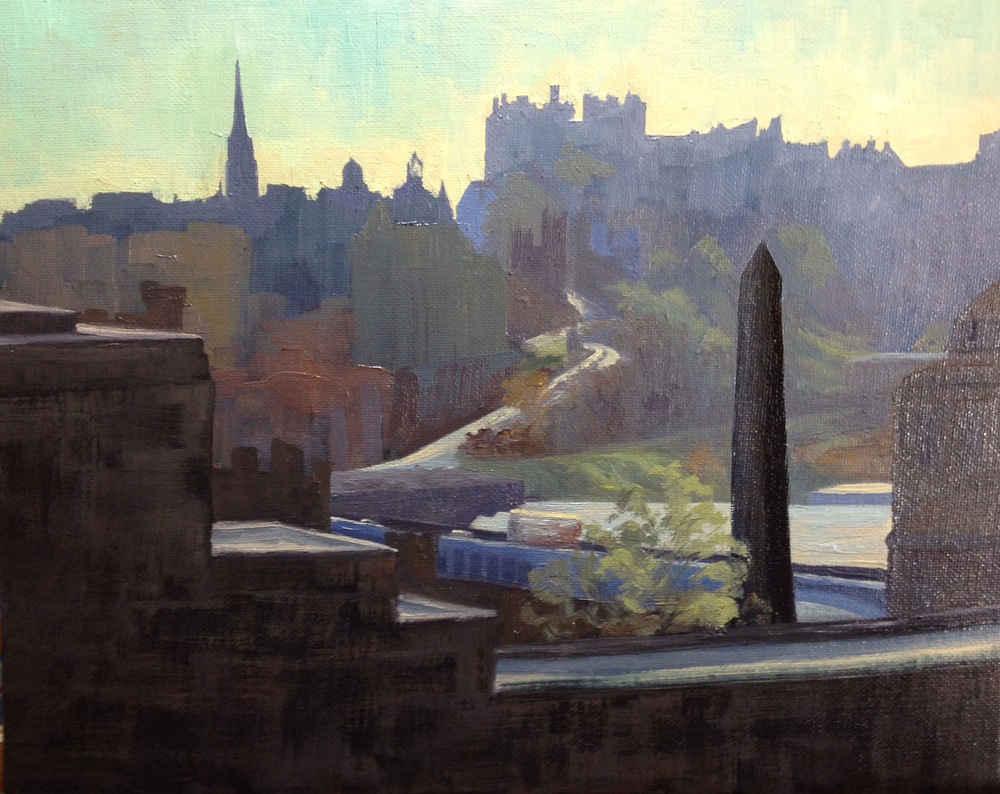 View from Calton Hill, 25x30cm