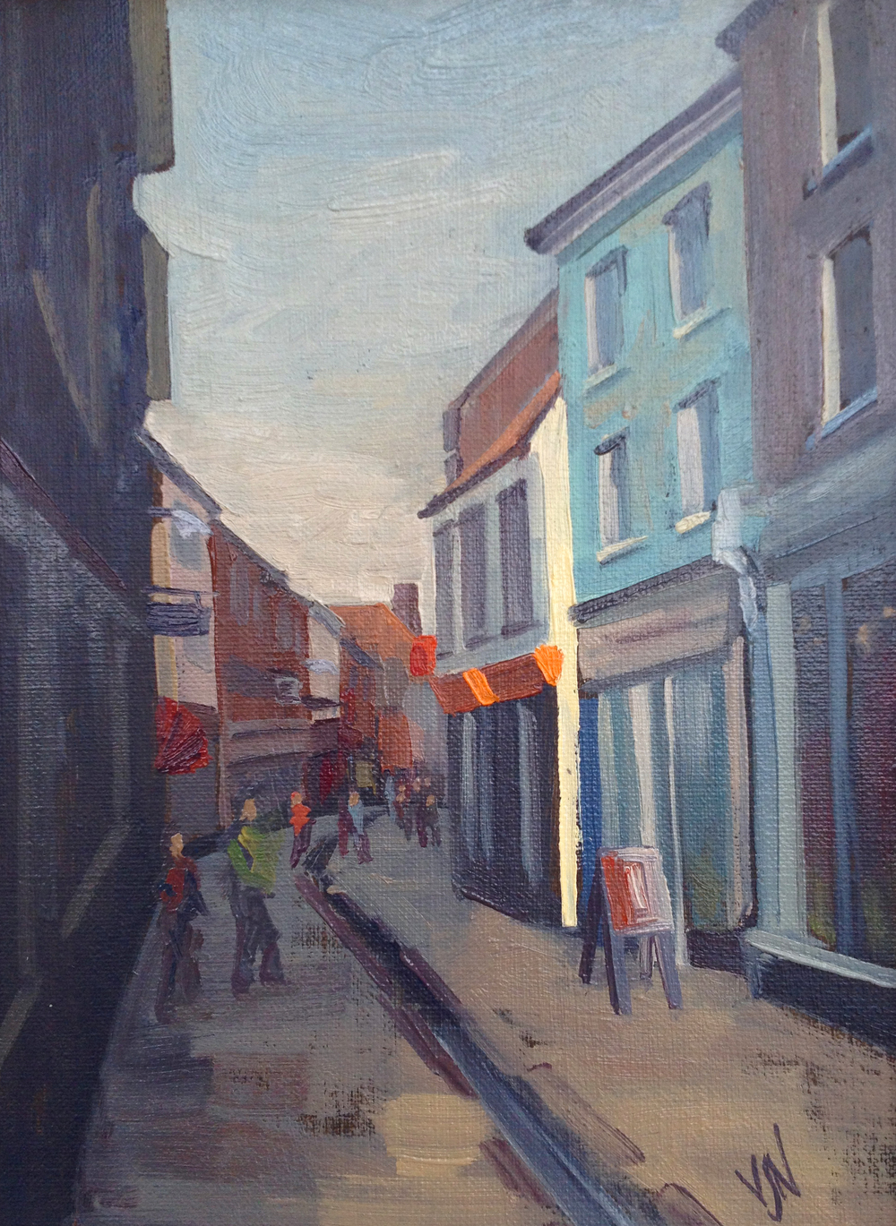 Norwich Quick Draw 24x18cm Oil on canvas board