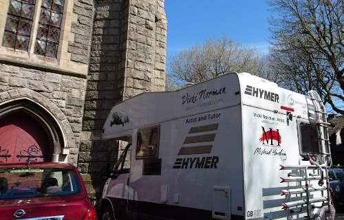The little motorhome found it's way right to St Kevin's Church on Sunday!