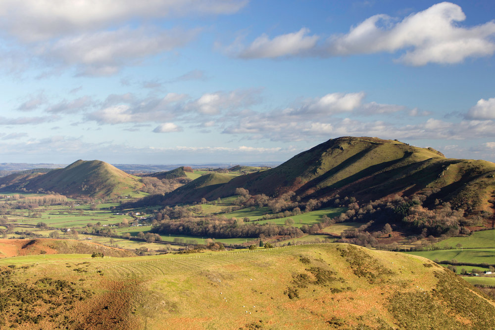 View towards Caer Caradoc and The Lawley from the Long Mynd