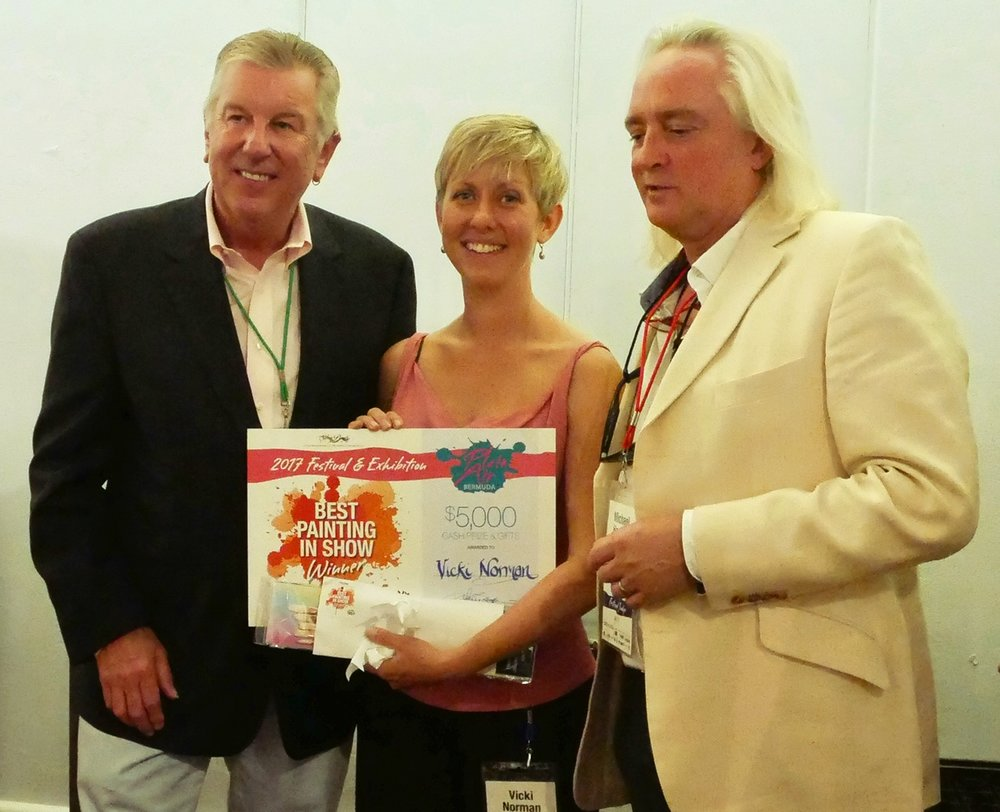 I received the award from sponsors Armadillo Art and Michael Harding Oils