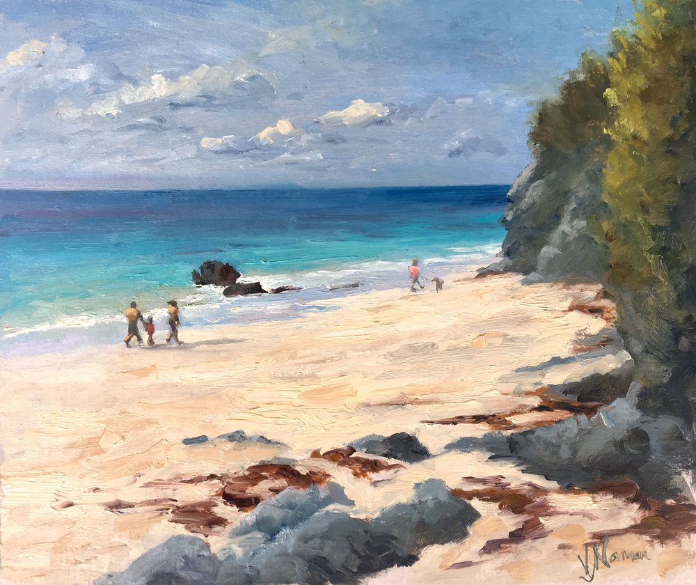 A sunny stroll on Coral Beach