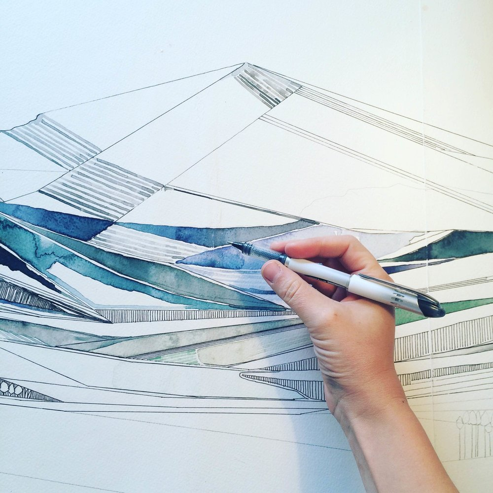 Mountainscapes: Watercolor & Ink  - for beginners to intermediate levels