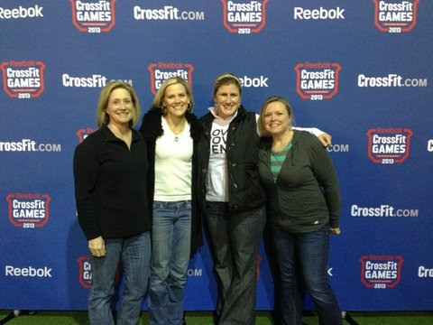CrossFit Jane athletes at the Live Announcement of 13.1 for the 2013 CrossFit Open.