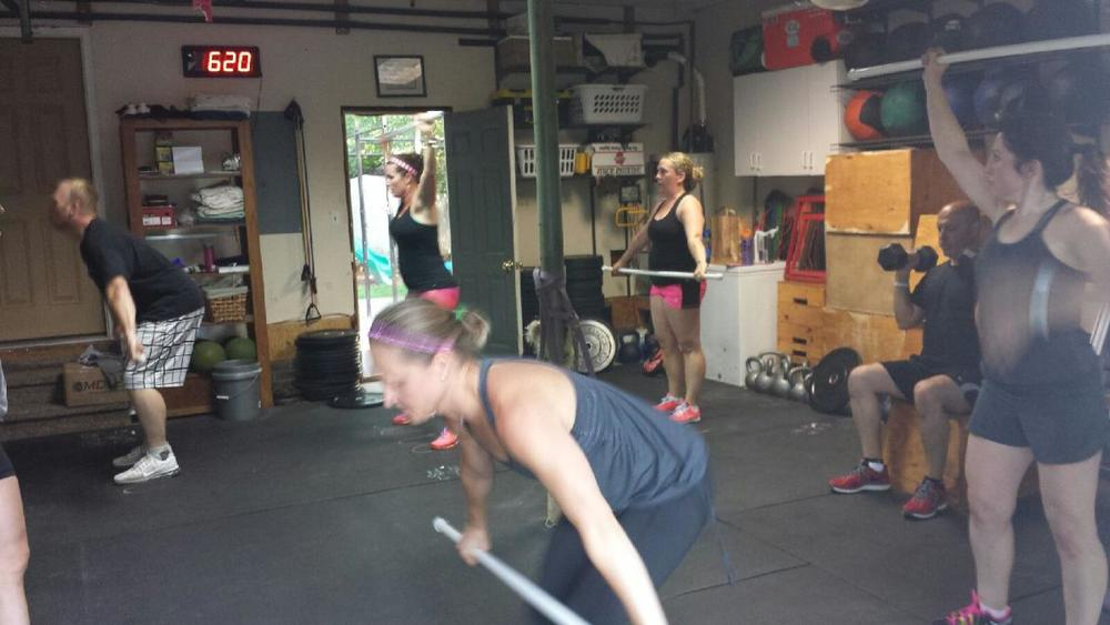 Fundamentals crew learning their Olympic Lifting. Great group!