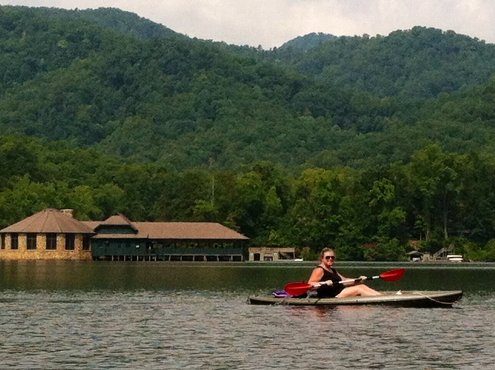 Kristie applying her fitness on vacation. 4 mile kayak. 3 min work, 3 min active recovery whole way.