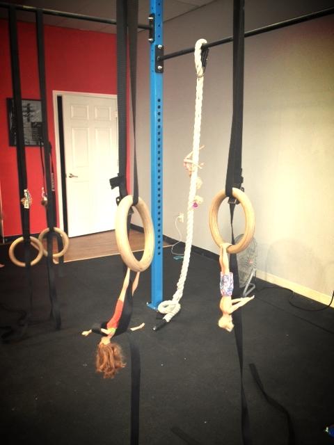 Becca's girls ran a tough gymnastics WOD today.