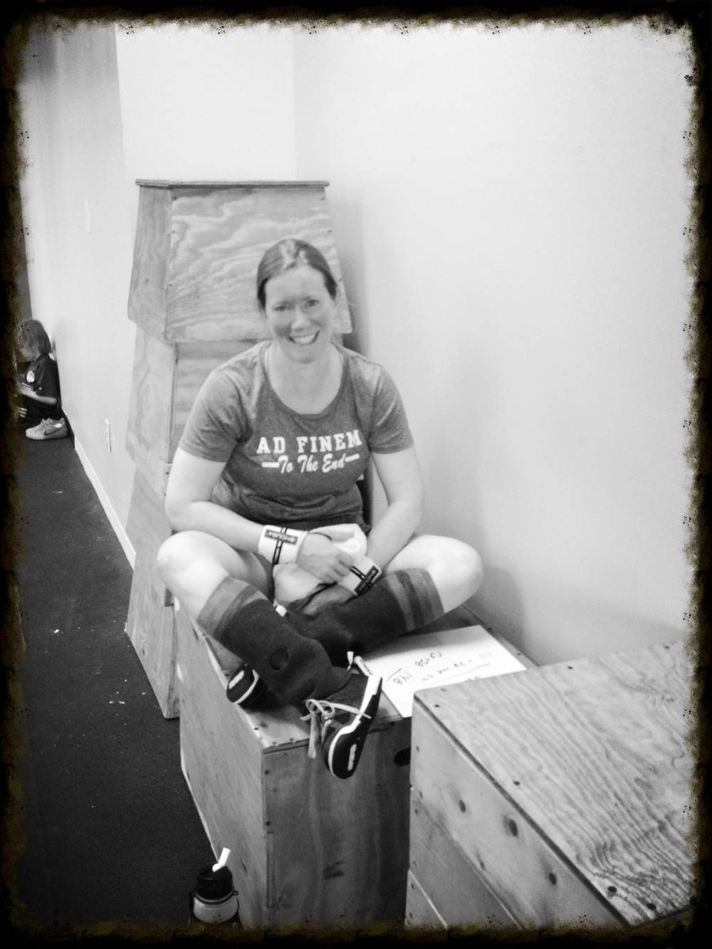 Her smile says it all. J. Best working hard at the evening classes to build a better version of herself.