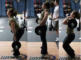 Hang power cleans. Straight bar path, load the hamstrings.