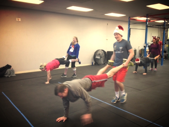 When was the last time you did the wheelbarrow with your teenagers dressed in Christmas attire?