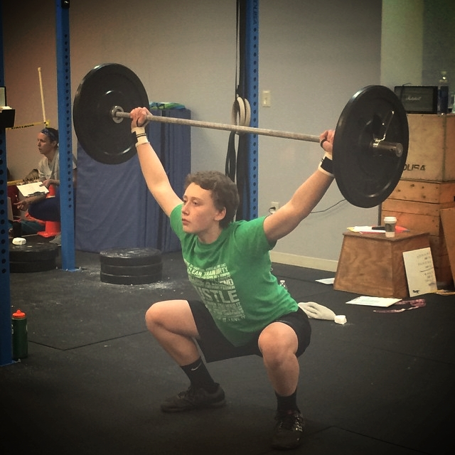 Nick looking strong during 15.2 in the 2015 CFJ Open.