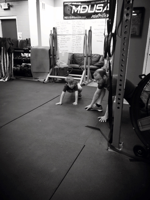 A father/son mobility moment before 15.4.