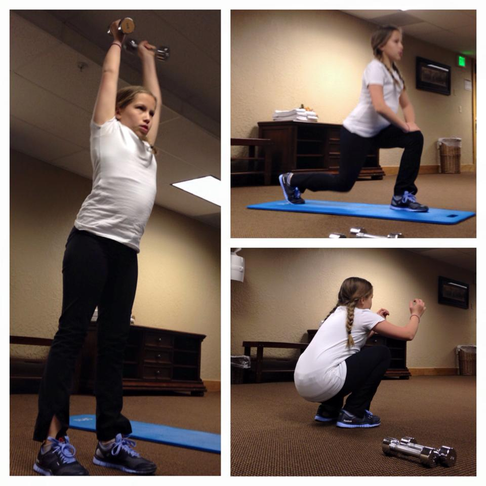 After skiing all day, thisCFJ Kid hitup a travel WOD over her Spring Break.