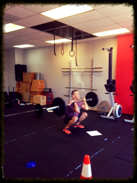Shane working through his front squats.
