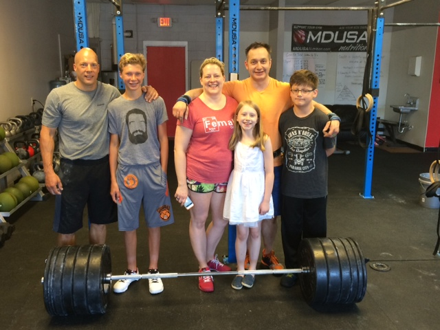 Father's Day at Open Gym. New deadlift and CrossFit Total PRs for everyone!