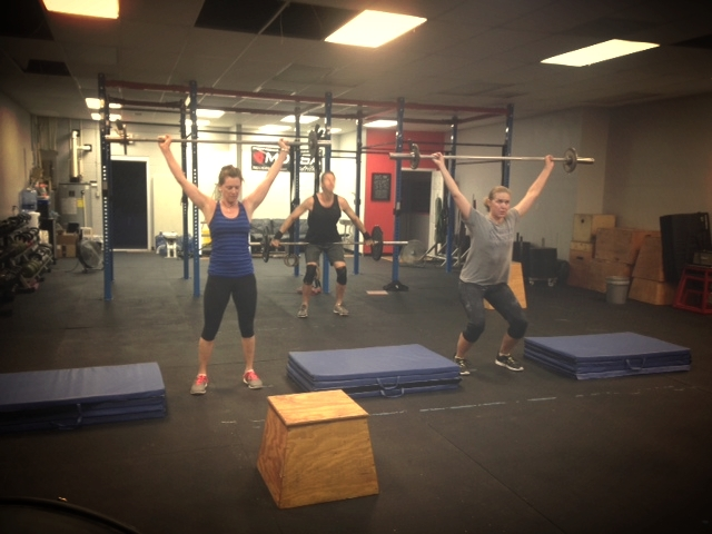 The 5 am class working on power snatches.