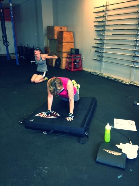 Ann working through her push-ups.