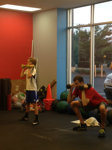 A father/son WOD at 6 am!