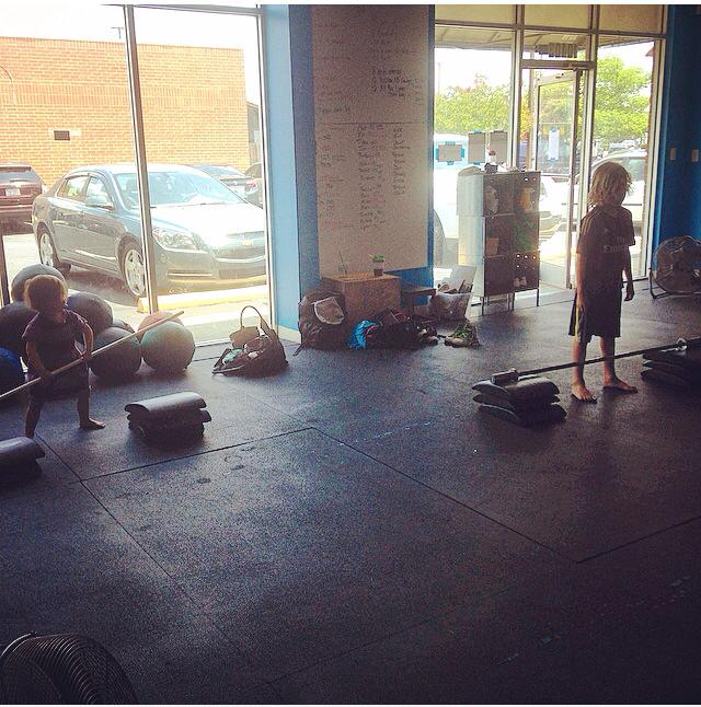"""Abby and """"Dude"""" working on snatches."""