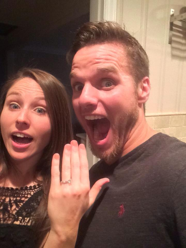 3-2-1 Get Married! Congrats to Erica and Shaun on their engagement.
