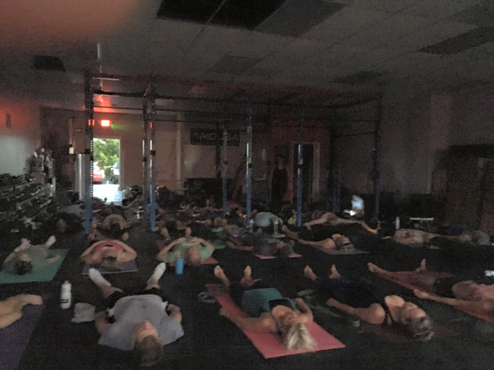 A full house for Deep Stretch Yoga.