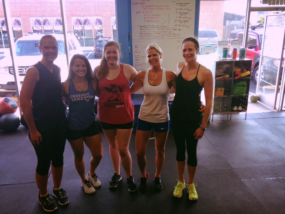 Our last WOD with Abigail before she left for Chapel Hill. We miss you already, Abby!