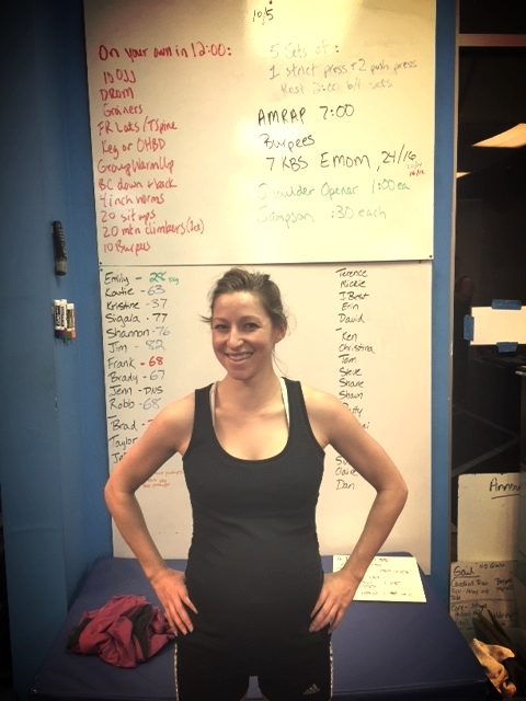 Today is this little mama's due date! She is signed up to WOD at 8 am. Stay tuned...
