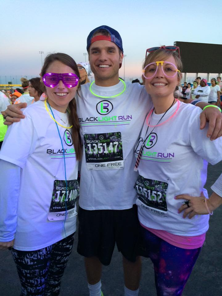 Erica, Shaun and Claire ran the Black Light 5K last weekend. Strong work!