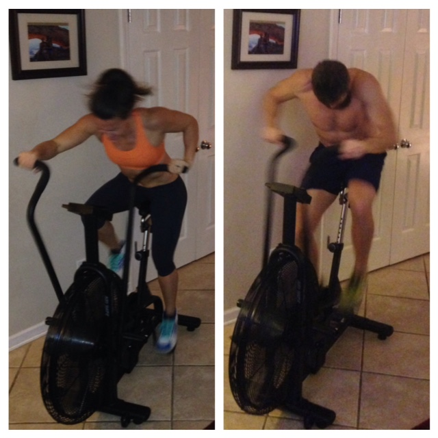 Sure, Brent, let's do calories on the assault bike for yards thrown during the game on Thanksgiving. Jaime took Romo and Brent took Newton. Brent is more fit now.