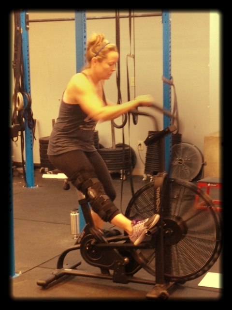 No excuses around here! Claire is working hard despite a knee injury.