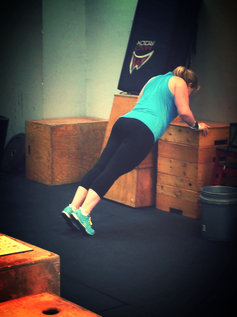 Jeannine looking strong working through a WOD.