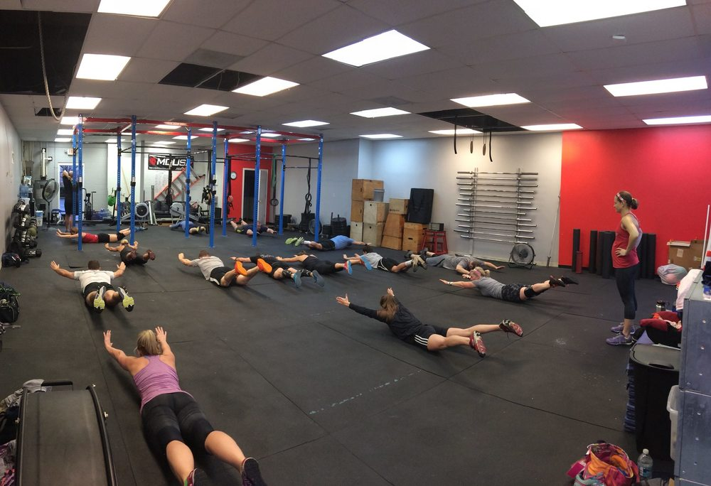 Coach Sara with a full house for the final WOD of 2015!