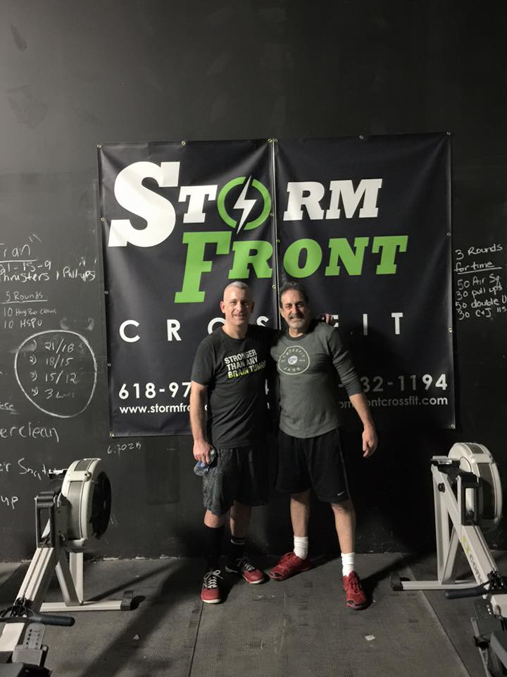 Steve visited 2 boxes while traveling this week. Here he is at Storm Front CrossFit! Strong work, Steve!