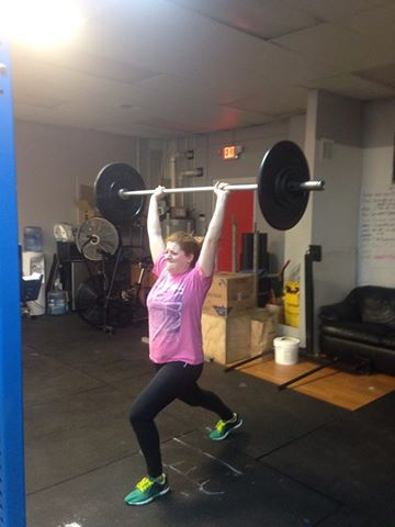 Amber learned to split jerk this week! She has found her calling.