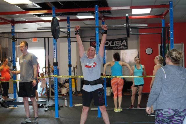 Rob show us strength and lots of heart as he fought through 16.5 at RX. Strong work, Rob!