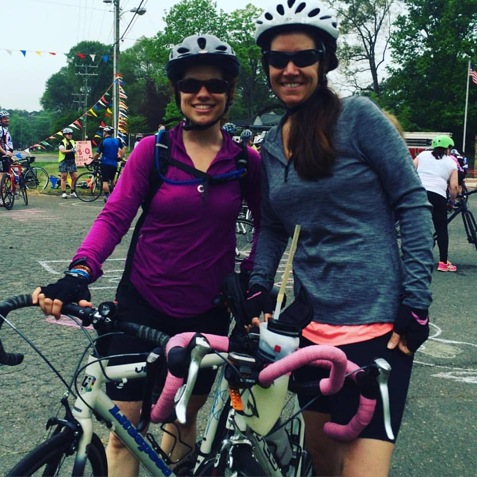 Shannon and Karen at the Bike Luck event this weekend.