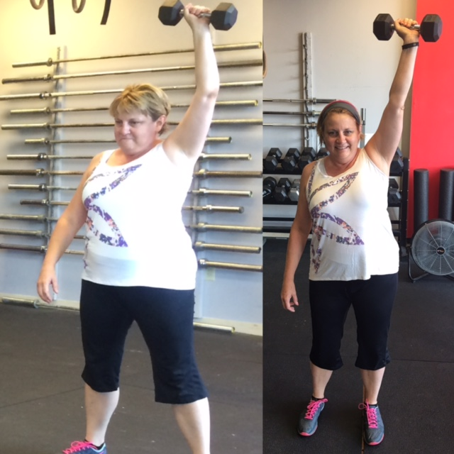 TBT! Celebrating a beautiful, active life at 50! Delores was new to town and had just sent both her sons away to college when she first walked through our doors in July 2015. She was ready for some changes and to prioritize her health. She is a regular presence in our 9:15 class and yoga when she is not out mountain biking or hiking. Del completed a Whole 30 and nutrition challenge to educate herself and revamp her nutrition.She competed in her first CFJ Open in March and hosted our annual holiday party. We are so thankful you watched that 60 Minutes episode and found us!We love this new, better version of you, Del! Keep up the strong work.