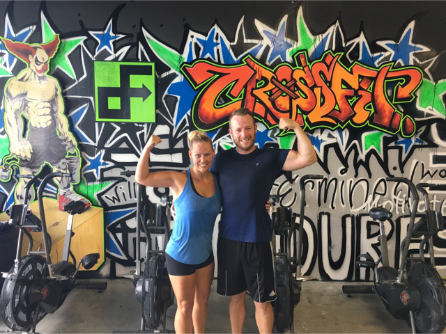 Kelly and Steve dropped in at CrossFit Driving Formations this weekend.