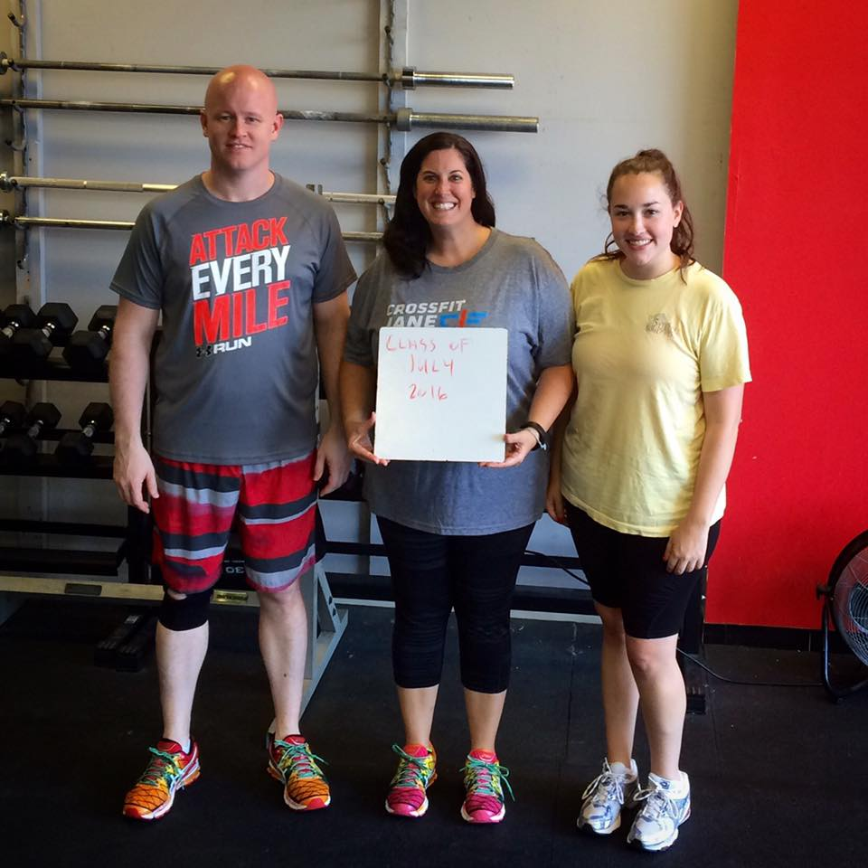 Welcome to our July Graduates! Jens, Melinda and Laura will be joining our regular classes this week!