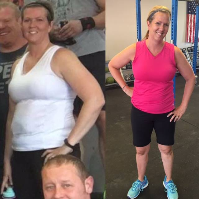 """This lady is so beautiful on the inside and outside. Her teenage daughters now refer to her as a CrossFit """"beast."""" Her positive attitude and work ethic inspire everyone around her. She has made major changes in her nutrition and continues to grow in her strength and conditioning. Keep up the good work, Susan!"""