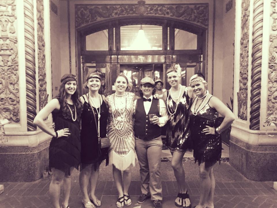 CFJ Ladies Celebrating Erica's bachelorette weekend in New Orleans.