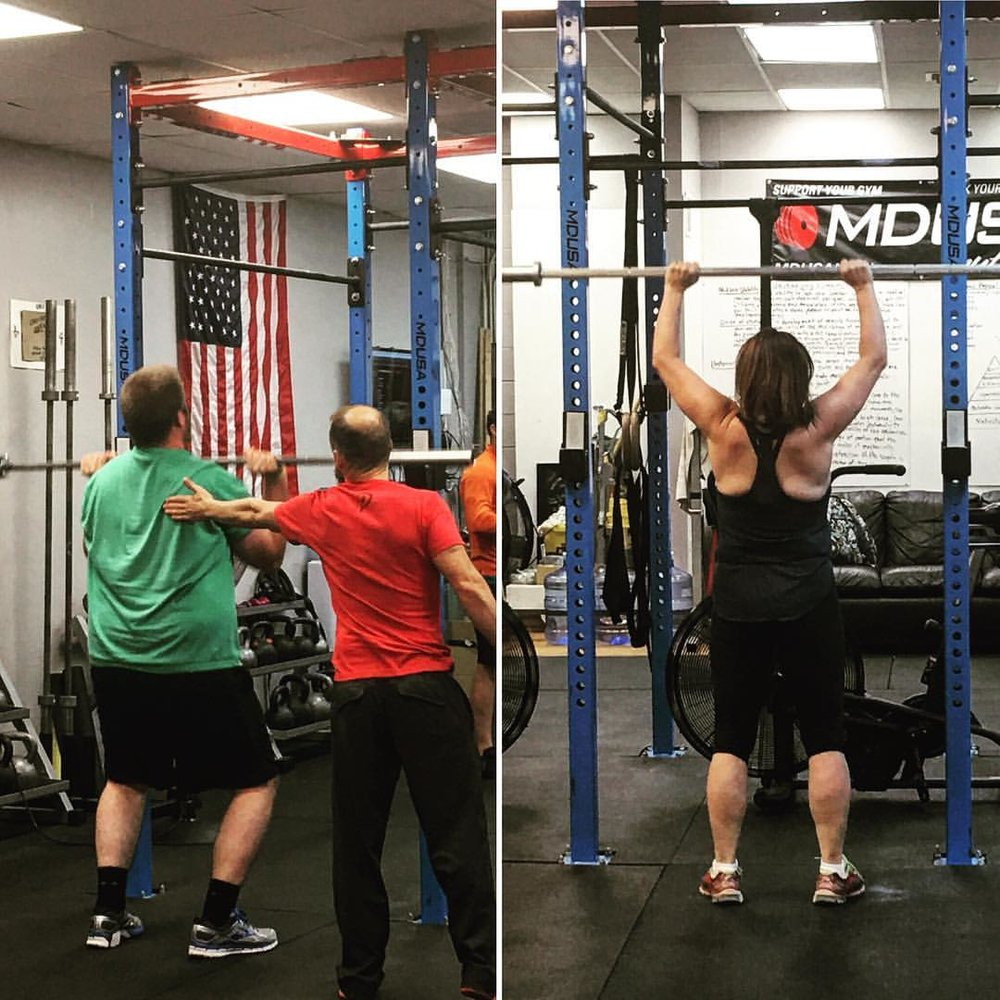 Andrew and Melissa will be graduating from Fundamentals on Saturday! Strong work!