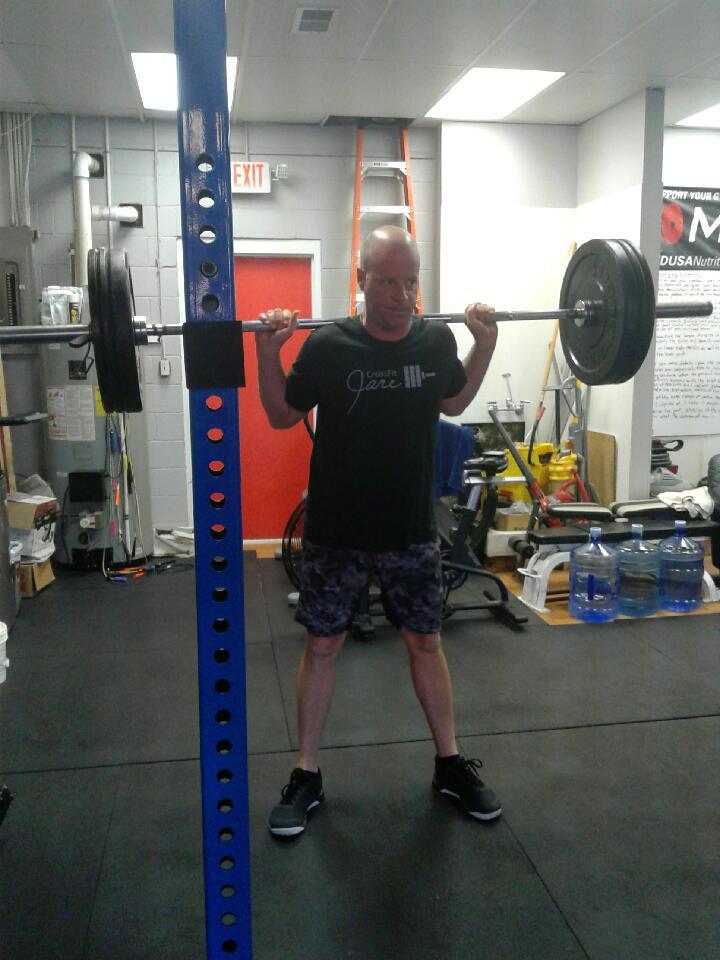 Ken working through some back squats.