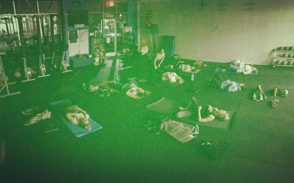 Deep stretch yoga.