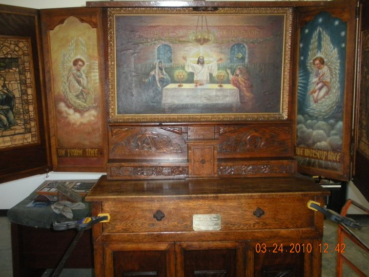 has finished restoring a 110 year old worship chapel for a local college and it is being returned to the college today..jpg