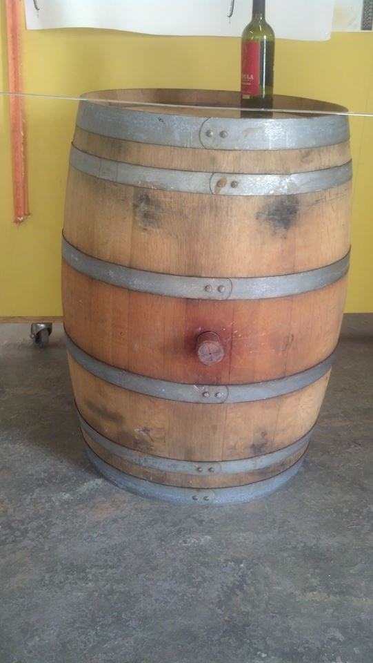 Wine Barrel into Wine Rack