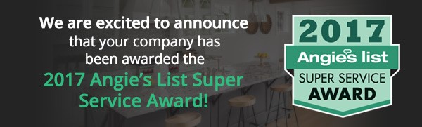 I am please to have been won the 2017 Angie's List Super Service Award in my categories!